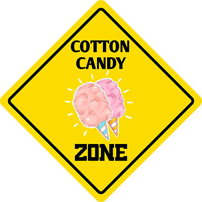 Cotton Candy Zone Crossing Funny Metal Aluminum Novelty Sign