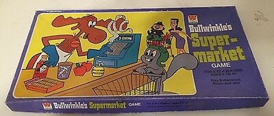 BULLWINKLE'S SUPERMARKET GAME (98% Complete) Year: 1976