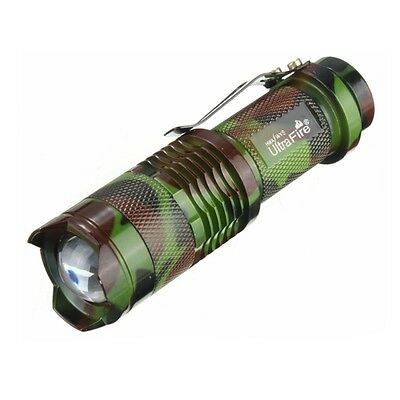 ZOOM 600LM Mini CREE Q5 LED 3 Modes Adjustable Focus Flashlight Torch UltraFire
