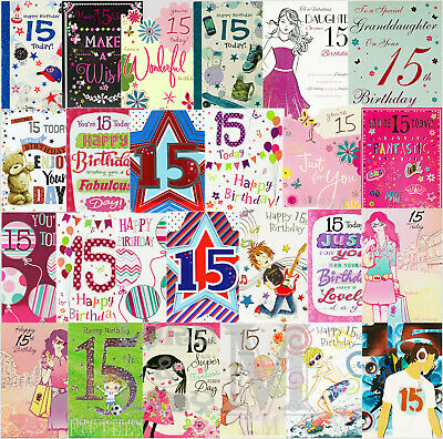 Happy 15th Birthday Card Greeting New With Envelopes Son Nephew