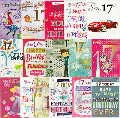 17th Birthday Card - Various Designs Available
