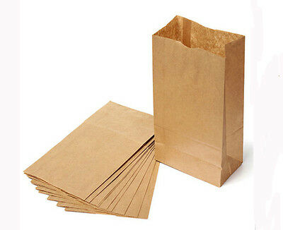 10/20Pcs/Pack Small Kraft Paper Gift Bags Vintage Party Treat Brown Paper Bags
