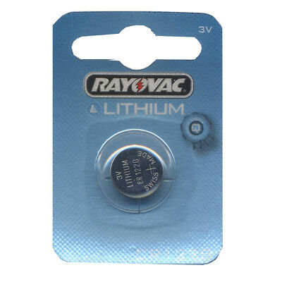 1/2 Rayovac CR1220 Lithium Battery 3v Coil Cell DL1220 For Camera Car Key