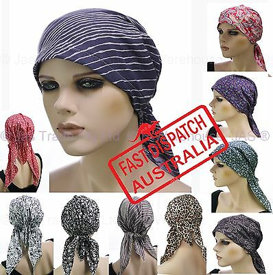 63958755cdd5a Fitted Bandana Scarf Durag Cap Hat Chemo Hair Loss Head Wrap Cover  headcovering