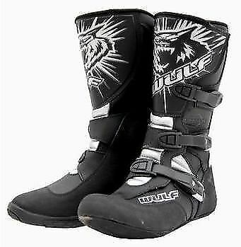 Adult Wulfsport Speedway Grass Track Boots Black Sizes Euro  41 Only  T
