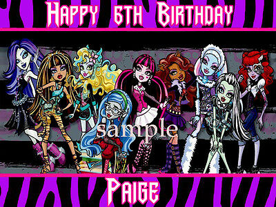 MONSTER High Edible Photo CAKE Image Icing Topper Decoration FREE SHIPPING
