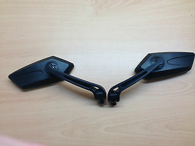 Honda CBR 125 Universal  Motorcycle  Mirrors 8mm or 10mm Thread Black