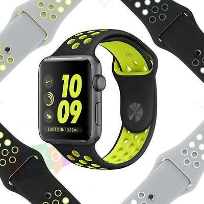 New Colors Strap Bracelet Band Silicone Fitness For Apple Watch iWatch 38mm 42mm