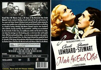 Made for Each Other ~ New DVD ~ Carole Lombard, James Stewart (1939) KLI