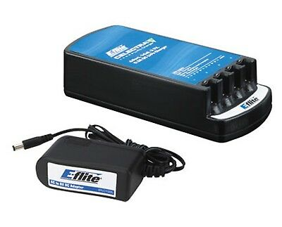 Latest E-Flite Celectra 4 Port Charger with AC Adapter EFLC1004AC