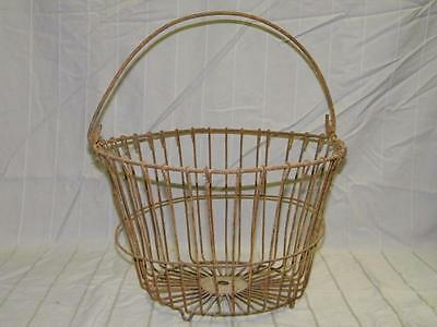 Primitive Farm Equipment / Tool - Garden n Yard Art - Old Wire Potato Basket