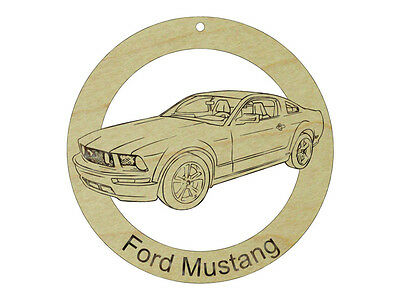 Ford Mustang GT Natural Maple Solid Hardwood Ornament Sanded Finish