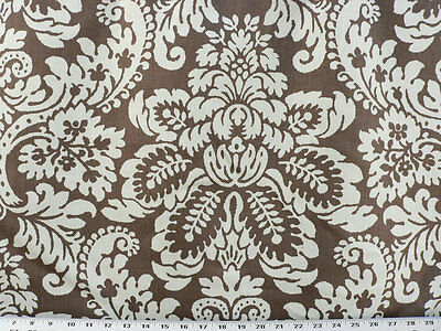 Drapery Upholstery Fabric Ivory Large Scale Floral Print On Rose