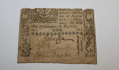 X Old Original Corner of an Olde 1775 Colonial Currency Note