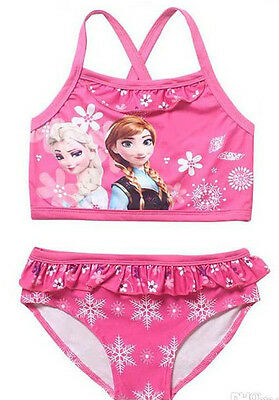 Frozen bikini Swim Suit Frozen Elsa Anna Disney Swimming Costume girls pink