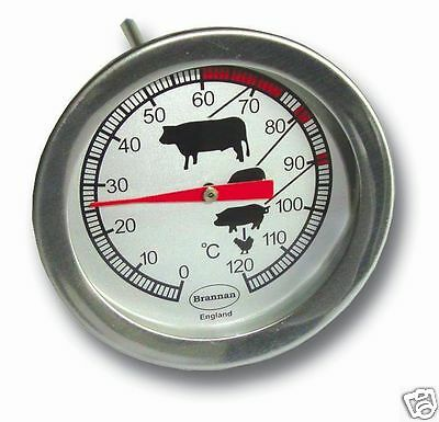 Brannan Stainless Steel Dial Meat Spike Thermometer 50MM 23/401