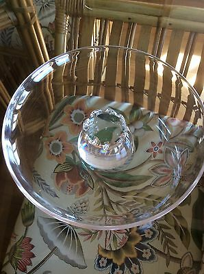 """8"""" Signed STEUBEN Crystal Footed Bowl"""