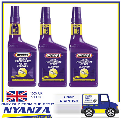 3 x Wynns DPF Diesel Particulate Filter  Cleaner Fluid Additive 28272/28263