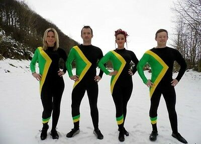 Jamaican Bobsled Fancy Dress Costume / Jamaica Team Bobsleigh Olympic Outfit XXL