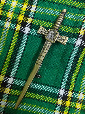 HW New Celtic Broads World Kilt Pin Antique/Scottish Kilt Pin Celtic Sword 4.5""