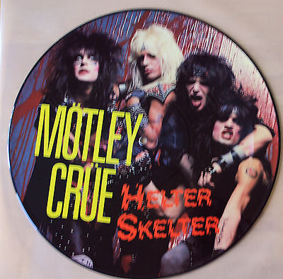 "Mint! Motley Crue Helter Skelter 12"" Vinyl Pic Picture Disc + Poster + Insert"