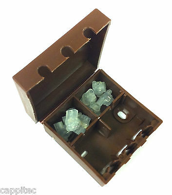 BT16A EXTERNAL CONNECTION CABLE JOINT BOX IN BROWN WITH 8x 2 WIRE JELLY CRIMPS