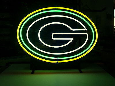 NEW GREEN BAY PACKERS BEER REAL NEON BAR PUB LIGHT SIGN