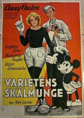 Cut Price! Fair People 1930 Swedish Poster - Rare Mickey Mouse Image Anny Ondra!
