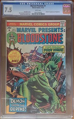 Marvel Presents: BLOODSTONE  #1 /  CGC 7.5 White Pages