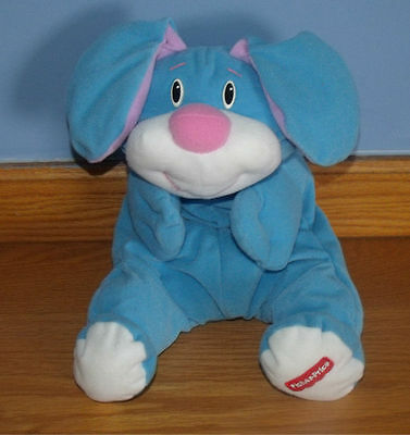 Fisher Price Blue Floppy Bunny Rumple Lovey Stuffed Animal 1999