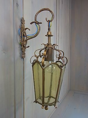 X9 * Antique Gilded Lantern German 1930´s newly rewired European Standard