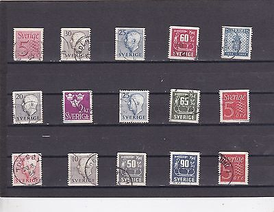 Sweden stamp collection All Different Used   6440