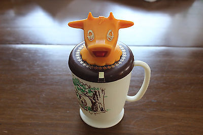 VINTAGE 1960's MOO COW COFFEE CREAMER RETRO FARM KITCHEN SIPPY CUP NEW