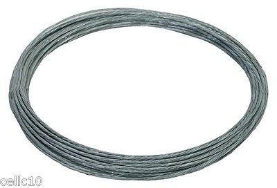 6/18 Galvanized Guy Wire - 1000' - EZ 60B 18 Gauge Cable for Antenna Mast Guying