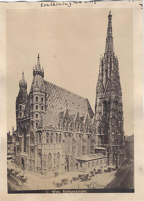 Original Vintage Albumen Photograph Of St Stephens Cathedral - Wien, Austria