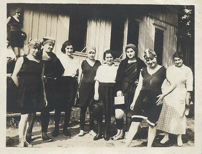 Original 1920S Photograph Of Many Women W/ Some In Bathing Suits