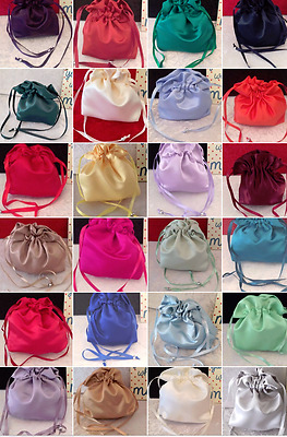PLAIN DOLLY BAG BRIDAL BRIDESMAID FLOWER GIRL BNIP ASS. COLS. ** free samples**