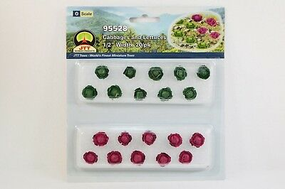 """JTT Scenery Cabbage and Lettuce 20/pk 1/2"""" Width O Scale 95528 NEW"""