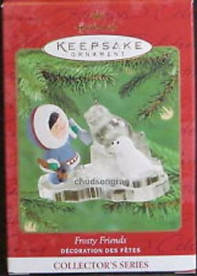 2000 Hallmark Frosty Friends 21st Christmas Eskimo #21 Keepsake Ornament