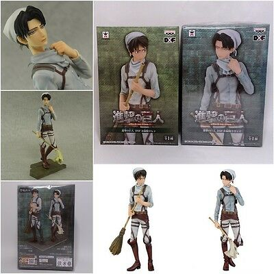Attack on Titan DXF Cleaning Eren & Levi Figure set (Banpresto) Shingeki broom
