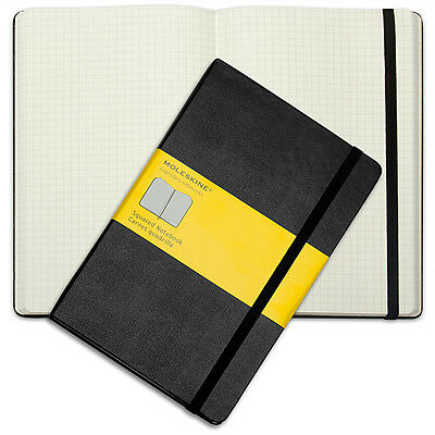 NEW Moleskine Classic Hard Cover Notebook Large Squared Black