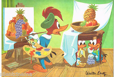 *Woody Wookpecker & Buzz Buzzard Placement Signed by Walter Lantz (1978)