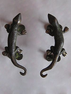 "Lizard Brass Door Handle 5.5"" - Nepal"