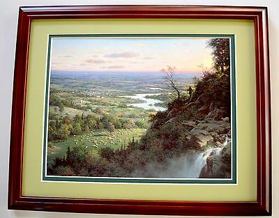 The Lost Sheep by Larry Dyke Ranch 9x12 Open Edition 9x12 Print in 11x14 Frame