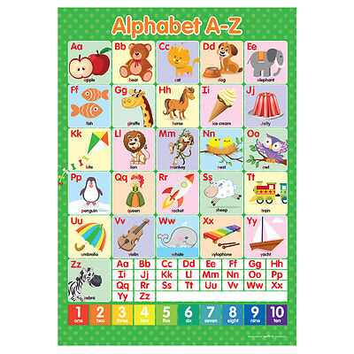 A3 Alphabet ABC's A-Z Poster English Educational Learning Teaching Resource