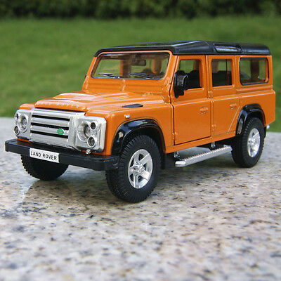"Land Rover Defender 5.3"" Model Car Collection&Gifts Alloy Diecast Toy New Orange"