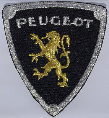 Peugeot embroidered cloth patch.  H011202