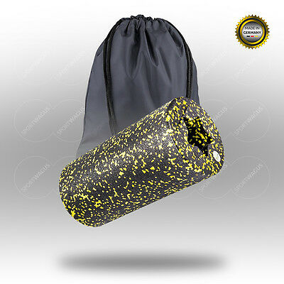 BALANCE ROLL Standard Massagerolle 31x15cm black Roll yellow Faszienrol Reha Set