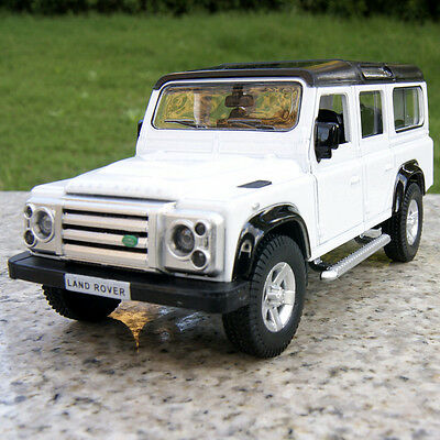 Land Rover Defender 5.3 inches Alloy Diecast Model Cars PullBackNew White Toys