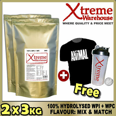 6Kg Hydrolysed Whey Protein Isolate / Concentrate Powder - Wpc / Wpi